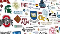College Logo Loop - stock footage