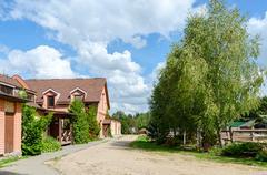 Belarus, Dudutki, the museum of folk crafts and technologies. Stable yard Stock Photos