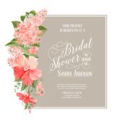 Bridal shower card - stock illustration