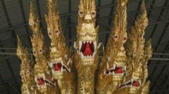 Anantanakharaj Royal Barge, National Museum of Royal Barges, Bangkok, Thailand Stock Footage