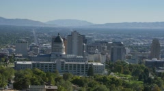 Salt Lake City Valley Stock Footage