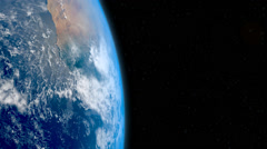 Real Realistic EARTH in space LOOP 1920X1080 Stock Footage