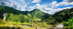 Rice terraces. Banaue, Philippines - stock photo