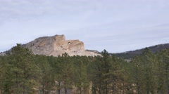 Crazy Horse Monument wide Stock Footage