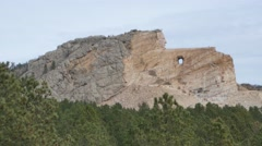 Crazy Horse Monument Stock Footage
