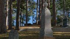 Deadwood Grave yard Stock Footage