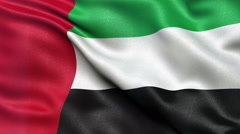 4K Flag of the United Arab Emirates seamless loop Ultra-HD Stock Footage
