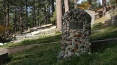 Deadwood Grave Stone Stock Footage