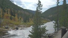 Yellowstone river at Yellow National Park - stock footage