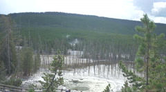 Cistern Spring at Yellowstone National Park Stock Footage