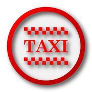 Stock Illustration of Taxi icon. Internet button on white  background..