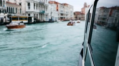 Shot from a boat navigating through Venice canals Stock Footage