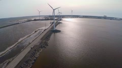 The wind farm, Pori Finland Stock Footage