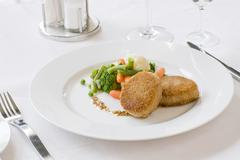 Cutlet with vegetables - stock photo