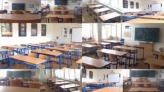 4K montage (compilation) - school class (classroom) - with electronic board - stock footage