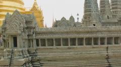 A model of Angkor Wat in Wat Phra Kaew, Bangkok, Thailand Stock Footage