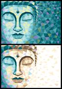 Low Poly Buddha Stock Illustration