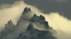 Mountains and clouds, Land of Fire Stock Footage