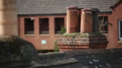 Traditional English chimney Stock Footage