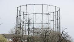 Gas holder Stock Footage