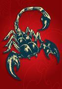 Scorpion Vector  - stock illustration
