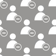 Remove user seamless pattern Stock Illustration