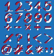 Mathematical figures - stock illustration
