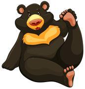 Fat bear - stock illustration