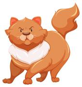 Fat cat - stock illustration