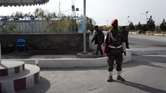 Afghan soldier of the 207th Corps Afghan - stock footage
