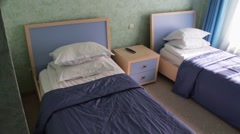 Bedroom in the hotel Stock Footage
