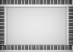 Piano Keyboard Frame Stock Illustration