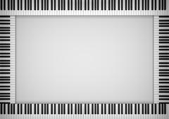 Piano Keyboard Frame - stock illustration