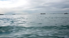 Shot from a boat navigating through Venice lagoon - stock footage