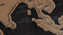 The World Map 34 Stock Footage