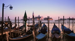 Sunset skyline of Venice Italy Stock Footage