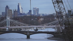 Central London skyline at dawn Stock Footage