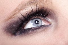 Fashion eyes very close up Stock Photos