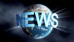 News - Broadcast Graphics Title Stock Footage