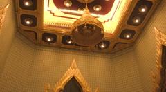 World's Largest Solid Gold Buddha,Temple Of Golden Buddha, Bangkok, Thailiand Stock Footage