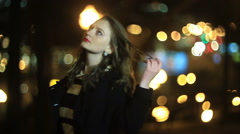 Girl in anticipation - stock footage