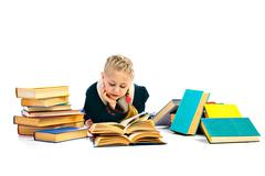 girlie with book - stock photo