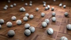 Base Ball Wooden Floor Stock Footage