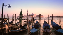 Venice Italy skyline at sunset Stock Footage