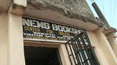 Bookstore facade in Nigeria Stock Footage