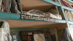 Sign 'motivational books'  in bookstore Nigeria Arkistovideo