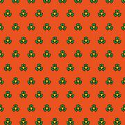 Joyful spring bright cheerful pattern - stock illustration