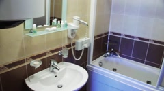 Bathroom in the hotel Stock Footage
