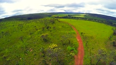 Aerial View from vegetation in Goias, Brazil Stock Footage