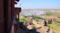 Cityscape of Jodhpur shot from the Mehrangarh Fort, Rajasthan, India Footage